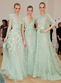 Elie Saab Couture -- All the pretty maids...would be so worth being a dreaded bridesmaid if you had Elie Saab to wear!...