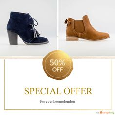 We are happy to announce 50.00% OFF on our Fabulous Collection of Ankle Boots and Shoes. Coupon Code: discount50.    Expiry: 8-May-2017.  Click here to avail coupon: https://small.bz/AAY19yo #musthave #loveit #instacool #shop #shopping #onlineshopping #instashop #instagood #instafollow #photooftheday #picoftheday #love #OTstores #smallbiz #sale #coupon                        Follow us on https://www.facebook.com/Forever-Love-Me-London