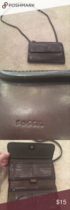 Fossil Wallet Purse Brown Leather Fossil Wallet Purse in Good Condition! Fossil Bags Crossbody Bags