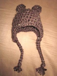 Baby Bear Beanie #Crochetpattern #babyhat