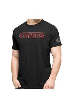 '47 Kansas City Chiefs Mens Black Two Peat Short Sleeve Fashion T Shirt - 4804804