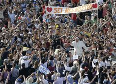 Pope leads pep rally at Vatican Pope Francis lamented that investment losses by banks trigger more alarm in the economic crisis than the struggle of people to feed their families, as he led a huge rally to invigorate the church's moral conscience...