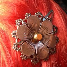 Steampunk Copper Flower Filigree Embellished by ArcanumByAerrowae