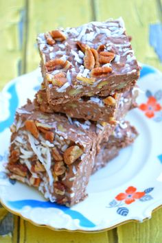 Delicious recipe for low-carb and keto friendly German Chocolate Cake Fudge! Must try!