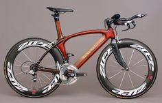 Renovo Hoodoo hardwood monocoque time-trial bicycle