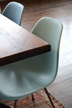 beautiful table with eames chair