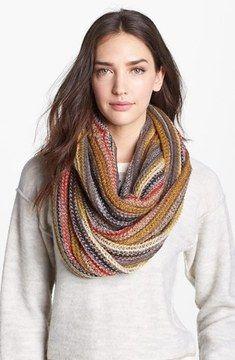 Echo 'Fuzzy Stripe' Infinity Scarf on shopstyle.com