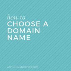 Your blog name matters. It sets the tone for your blog and determines what type of readers you will attract. As you start a blog, learn How to Choose a Domain Name