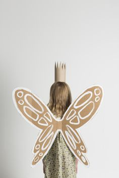 DIY cardboard garden fairy wings and crown by Mermag.