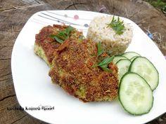 Kuchnia Koloru Blond: Siekane kotlety z kurczakiem, brokułem i serem ple... Blond, Zucchini, Grains, Rice, Vegetables, Vegetable Recipes, Seeds, Laughter, Jim Rice
