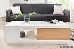 meble - stoły i stoliki-Stolik kawowy Scandinavian bialy dąb 120cm