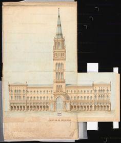 Titel Berliner Rathaus (Rotes Rathaus). Schinkelwettbewerb 1857 | Hude, Hermann von der Berliner Rathaus (Rotes Rathaus). Schinkelwettbewerb 1857 | Hude, Hermann von der