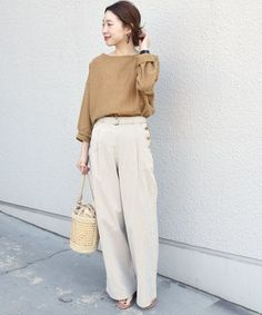 Office Fashion, Fashion 2020, Wide Pants, Colored Pants, Spring Trends, Japanese Fashion, Spring Fashion, Normcore, Beige