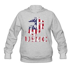 Women's United States Marine Corps USMC Logo Hoodies * You can get more details by clicking on the image.