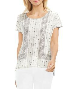 533441666f94 VINCE CAMUTO Mixed Geometric Print Top Vince Camuto - Bloomingdale s