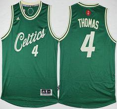 Boston Celtics Jersey 4 Isaiah Thomas Revolution 30 Swingman 2015 Christmas Day Green Jerseys