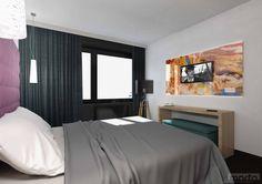 ONYX apartment house, Sárvár, Hungary / interior design 2016 Hotel Interiors, Hungary, Home Interior Design, Bed, House, Furniture, Home Decor, Decoration Home, Stream Bed