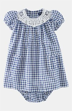 sweet little Ralph Lauren Gingham Dress (Infant) available at Nordstrom