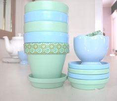 Pastel Chalk Paint Pots with Washi Tape2