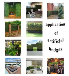 applications of artificial hedges & artificial boxwood & fake fences