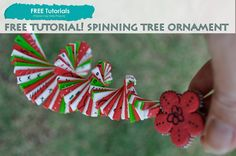 PolyPediaOnline How to Polymer Clay Spinning Christmas Tree Ornament FREE Tutorial