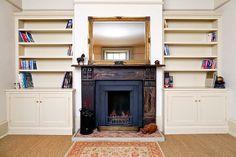 Edwardian Alcove Bookcases /shelves