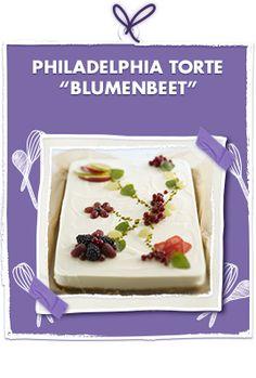 Philadelphia-Torte Blumenbeet