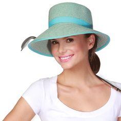ea713ed08a9f1 Physician Endorsed Womens Pitch Perfect Aqua Tweed Sun Hat
