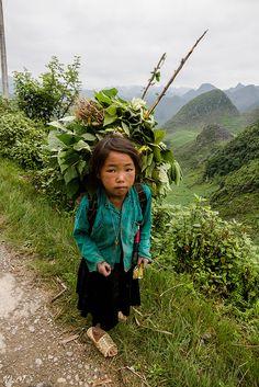 Little girl in Ha Giang, Vietnam                  ..by Tal Van