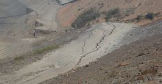 Fotos revelam rachadura em outra barragem em Mariana
