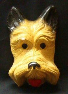 Vintage Chalkware Dog Face , My Grandmother had a lot of chalkware.  I think she had this one.