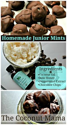 Homemade Junior Mints - Made with Healthy Ingredients! I would eat these all the time.  Have to give them a try.