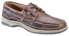 World Wide Sportsman Lakefront 2-Eye Boat Shoes for Men - Dark Brown - 8.5 M