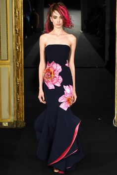 Alexis Mabille (SS 2015) love the dress, don't care for the hair