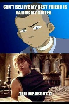 Ron and Sokka, not so different  ALSO TWO OF THE HOTTEST FICTIONAL CHARACTERS EVER. ;D