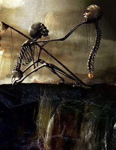 Death contemplating Life    davidho.com