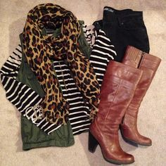 stripes, leopard, and a utility vest