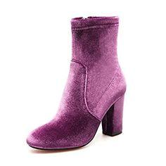 Damen Schuhe Vlies Winter Modische Stiefel Stiefel Blockabsatz Booties    Stiefeletten Für Normal Schwarz Purpur Rot fc80645c22