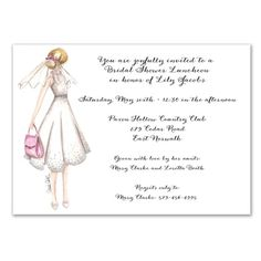 Honeymoon Bride Invitations - Carrie Beth Taylor (