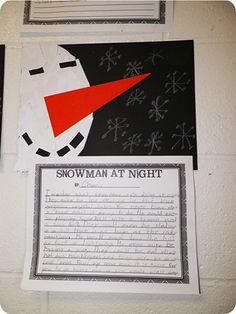 Writing- What do snowmen do at night?