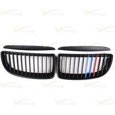Matte Black M Color Kidney Grille Dirrect Fit BMW E90 323i 325i 328i 335i 4-Door #Vimpression