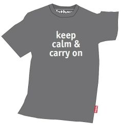 """Guys """"Keep Calm & Carry On"""" Tee - Large by Fatboy. $8.99. Fitted fashion tee that communicates the qualities of the Fatboy® brand personality and lifestyle.. Save 72%!"""
