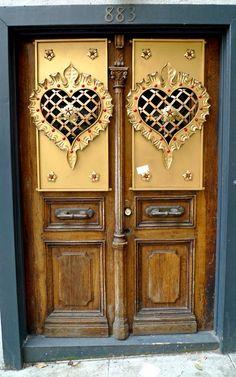 fancy heart doors