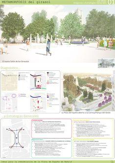 Estas son las propuestas que compiten para remodelar la Plaza España en Madrid,Metamorfosis del girasol. Image © Difusión Ayuntamiento de Madrid