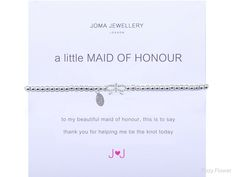 Joma jewellery a little maid of honour bracelet