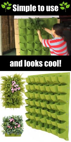 Plantador Vertical, Vertical Garden Design, Vertical Planter, Vertical Garden Plants, Vertical Vegetable Gardens, Plant Wall, Plant Decor, Container Plants, Container Gardening
