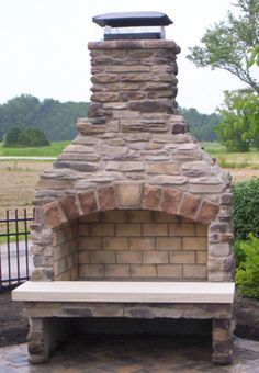 "Finished 36"" Standard Series Outdoor Fireplace Kit."