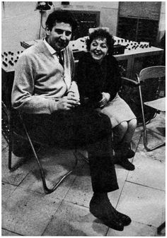 Edith Piaf with Greek composer Mikis Theodorakis