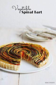 Vegetable Spiral Tart on http://baketotheroots.de/vegetable-spiral-tart/ almost too pretty to eat... almost!