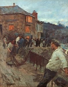 Stanhope A. Forbes, The Quayside, Newlyn, 1907.